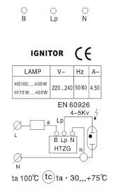 wiring diagram for metal halide lights wiring ignitor for 70 400w metal halide lamp sodium lamp un ig 001 on wiring diagram for