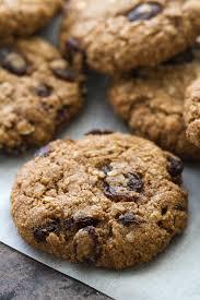 chewy flourless oatmeal raisin cookies