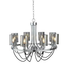 Design 8 Fl Led Lamp ø70cm Chandelier Lamp Smoked Glass Ceiling Lamp New