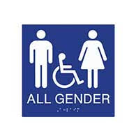 bathrooms signs. ADA Compliant All Gender Symbol Restroom Wall Sign With Pictograms/ Wheelchair And Grade 2 Braille Bathrooms Signs