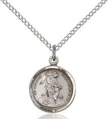 sterling silver petite guardian angel