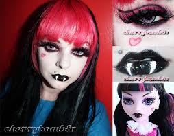 doll costume makeup tutorial for draculaura makeup tutorial monster high makeup ideas monster makeup makeup look draculaura monster high by cherry 81 on