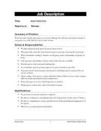 Hostess Job Description For Resume Stunning 325 Hostess Job Description On Resumes Server Responsibilities Resume