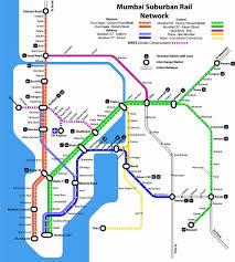 Indian Railway Route Chart Mumbai Local Train Map