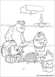 Small Picture Monsters University coloring pages on Coloring Bookinfo
