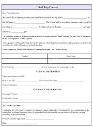 Field Trip Consent Form To Parents Poporon Co
