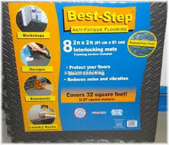 Best Step Anti Fatigue Flooring Expandable Garage Gym Cut to Fit