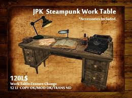 steampunk office. jpk steampunk work table box office