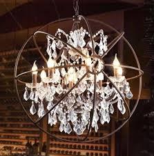 diy crystal chandelier vintage orbital crystal chandelier lamp home living room retro rust iron luxury diy diy crystal chandelier