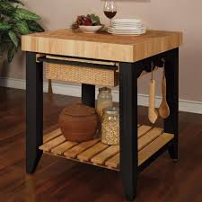 Interesting Small Kitchen Island Butcher Block Powell Color Story Black With Perfect Design
