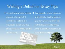 list of definitions essay topics powerpoint templates page 9 writing a definition essay tips