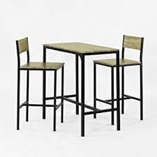 SoBuy OGT03 Ensemble table de bar + 2 chaises, Set de 1 Table + 2 ...