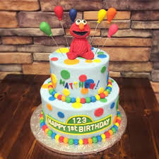 Sesame Street Elmo First Birthday Cake Cake By Leo Sciancalepore