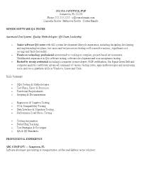 Tester Resumes Qa Resume Template Tester Resume Template Sample Source Software