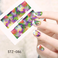 1sheets Hot Sales Women Beauty Stickers Water Transfer Wraps Foils ...