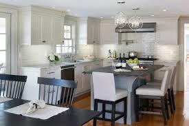 revere pewter kitchen light gray cabinets transitional benjamin