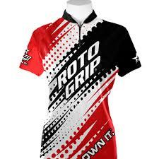 roto grip. ladies roto grip jersey - red/black/white
