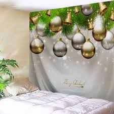 ornaments bell wall art tapestry gray w79 inch l71 inch