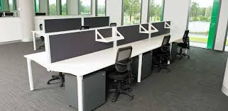 workstation desk pods for 4 person and 6 person