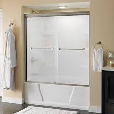 Rain Glass Bathroom Window Rain Shower Doors Showers The Home Depot