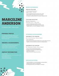 Resume Template In English With Photo And Colortock Vector
