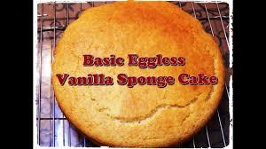 Basic Eggless Vanilla Sponge Cakewithout Condensed Milk By Khana