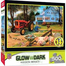 Melissa and doug и др.игрушки. Masterpieces Inc Welcome Home 500 Piece Hidden Images Glow In The Dark Jigsaw Puzzle Target