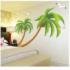 palm tree wall stickers: a lovely palm tree wall decal tropical beach palm trees decals with butterfly vinyl home decor