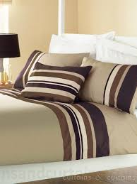 Striped Bedding Collection - Bed Set UK & Yale Chocolate Brown Striped Print Duvet Cover Adamdwight.com