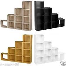 office shelving unit. wooden storage unit cube 2 3 4 tier strong bookcase shelving home office display