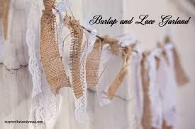 Burlap Decor Burlap And Lace Garland Inspired By Family