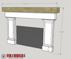 Fireplace mantel plans Ideas Diy Fireplace Surround And Mantel57 Fix This Build That How To Build Fireplace Surround And Mantel Fixthisbuildthat