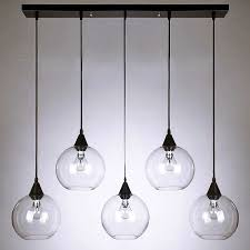 modern clear glass orbs pendant lighting 10095