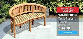 hardwood garden furniture banana bench teak garden benches hardwood garden furniture ireland