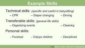 image titled write a resume for babysitting step 2 babysitting sample resume