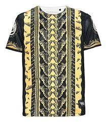 T-shirt schwarz Platin de xl Bekleidung Gold Farbe Haifisch Team Größe Amazon
