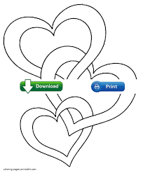Heart Coloring Pages Cute Print Hearts For Mothers Day Color Kids
