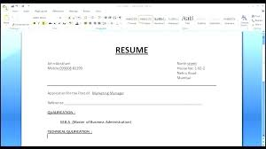 How To Make A Resume On Word Adorable Create Resume On Word Letsdeliverco