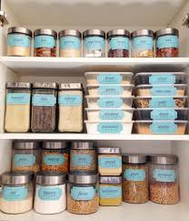 Kitchen Cabinet Organization Tips Kitchen Woven Labeled Pantry Bins Kitchen Cabinet Organization