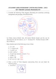British Isles Venn Diagram Lws Week 2 With Answers Statistics 1000 Sta1000f Uct