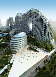 ... futurism in architecture ppt neo futuristic concept design on hill  located top of the bavarian town ...