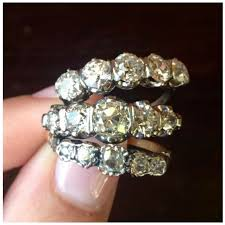 outrageous sparkles our antique five diamond rings visit isadoras antique jewelry in seattle washington