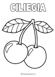 Disegni Da Colorare Frutta Di Primavera Cerca Con Google ภาพขาว