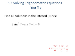 find all solutions in the interval