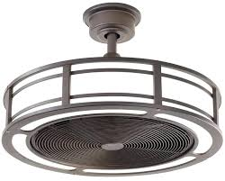 ceiling fan bronze modern indoor outdoor ceiling fan bronze drum enclosed led light remote control outdoor
