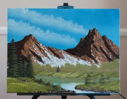 fan artfirst non bob ross painting i followed along with kevin hill s twin peaks painting