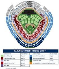 Yankees Seating Price Chart Charitybuzz 4 Tickets To Madonna Live In Concert At Yankee