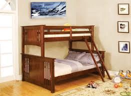 Mission Oak Bedroom Furniture Furniture Of America Cm Bk602f Oak Spring Creek Mission Oak Twin