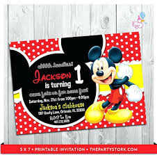 First Birthday Invitations Free Printable 1st Birthday Mickey Mouse Invitations Invitation Cards
