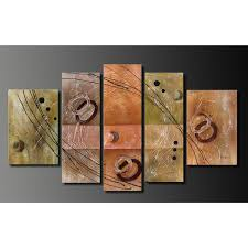 hand painted oil on canvas wall decoration 5 piece art set